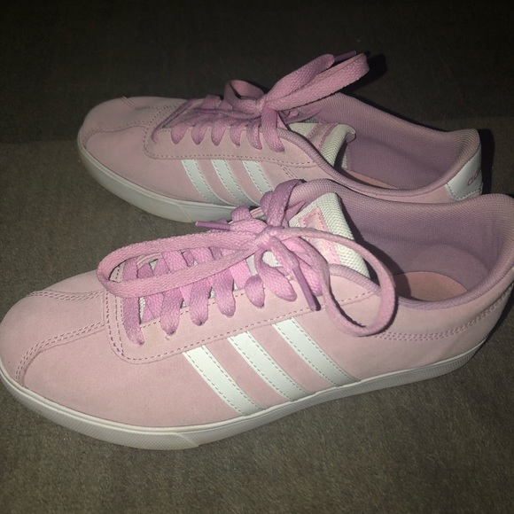 Adidas Courtset Ortholite Float in Pink Suede